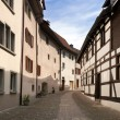 Stein an Rhein. The street of the ancient Swiss town. Europe — Stock Photo