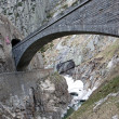 Devil&amp;#039;s bridge at St. Gotthard pass, Switzerland. Alps. Europe - Stock Photo