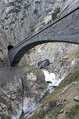 Devil's bridge at St. Gotthard pass, Switzerland. Alps. Europe — Stock Photo