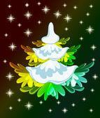 Vánoční stromeček karta — Stock vektor