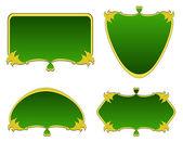 Conjunto de etiquetas de varias formas — Vector de stock
