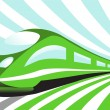 Stock Vector: High-speed train