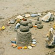 Sand castle on the beach — Stock Photo #8064089