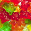Stock Photo: Background of gummi bears