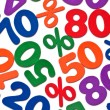 Background of numbers and mathematical symbols - Stock Photo