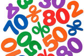 Background of numbers and mathematical symbols — Stockfoto