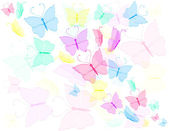 Colorful butterfly, abstract background — Stock Vector