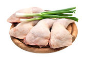 Chicken leg quarters isolated on white background. — Stock Photo