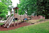 Playground in a city park. — Stock Photo