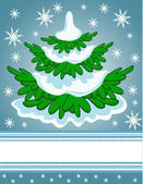 Christmas tree card — Stockvektor