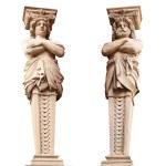 ATLANTA and Caryatid. Sculptural group. — Stock Photo