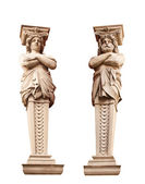 ATLANTA and Caryatid. Sculptural group. — Stock Photo