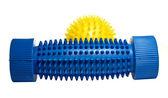 Yellow massage ball with a blue foot massager. — Stock Photo