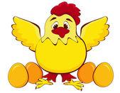 Chicken mother — Stock Vector