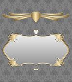 与黄金饰品复古背景 — 图库矢量图片