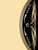 Marco de época con un sellado de oro — Vector de stock