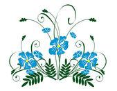 Bukiet kwiatów niebieski. — Wektor stockowy