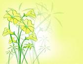 Gelb florales Muster. — Stockvektor