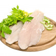 Fresh fish fillets with spices and celery — Stock Photo #9205970