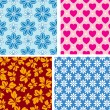 Royalty-Free Stock Vector Image: Four seamless pattern with children