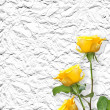 Old paper background with beautiful roses — Stockfoto