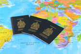 Canadian passports — Stock Photo
