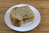 Multigrain Bread on the white plate — Stock Photo