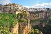 City ​​on rock in ronda — Stock Photo