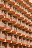 A number of balconies — Stock Photo