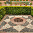 Alcazaba gardens — Stock Photo