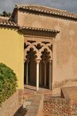 Pillars of the Arab Alcazaba — Stock Photo