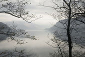 Winter landscape Lake Como — Стоковое фото