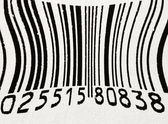 Deformed bar code — Stock Photo