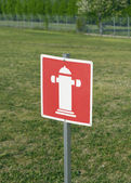 Fire Hydrant Sign — Stock Photo