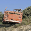 Abandoned van wreck — Stock Photo