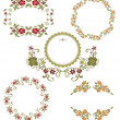 Vintage floral graphic collection. Spring set — Stock Vector #10232978