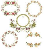 Wzór kwiatowy kolekcja grafiki. zestaw wiosna — Wektor stockowy