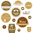 Set of travel and vacation labels, badges and emblems - Stock Vector
