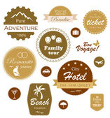 Set of travel and vacation labels, badges and emblems — Stock Vector