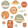 Travel and vacation label, badge and emblem set — Stock Vector