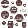 Travel and vacation emblems set — Stock Vector