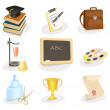 School and education icon set — Stock Vector #8545179