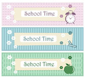 School Decorative Border Set — Stock Vector