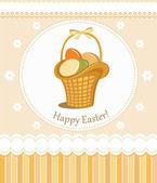 Carte de voeux joyeux pâques — Vecteur