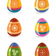 Easter eggs icon set — Stock Vector #9573302