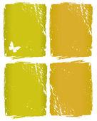 与蝴蝶 grunge 窗口背景 — 图库矢量图片