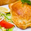 Stock Photo: Salmon in puff pastry