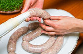 Saucisse traditionnelle fait maison — Photo