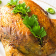 Stock Photo: Stuffed chicken with buckwheat
