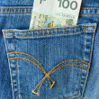 Hundred zlotys in the pocket - Lizenzfreies Foto
